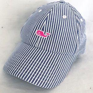 Vineyard Vines blue white stripe baseball hat EUC